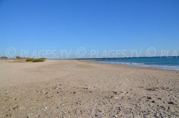 Public beach in Frontignan -  Arequiers