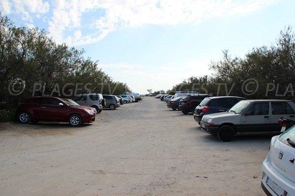 Parking de la plage des Aresquiers à Frontignan