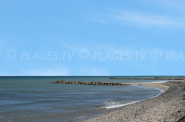 Aresquiers beach in Frontignan - towards Maguelone