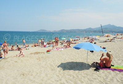 Beach in Argelès sur Mer in France
