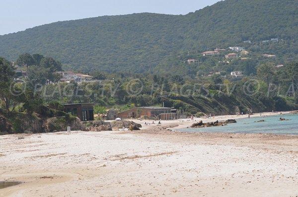 Huts of Argent beach in Coti Chiavari - Corsica