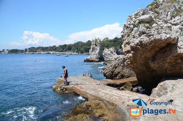 Spiaggia insolita del Cap d'Antibes