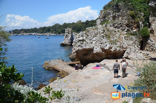 Spiaggia dell'Argent Faux del Cap d'Antibes - Francia