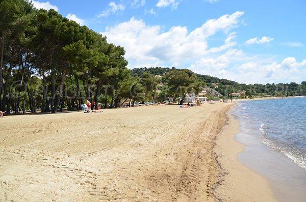 Partie centrale de la plage de l'Argentière à La Londe les Maures