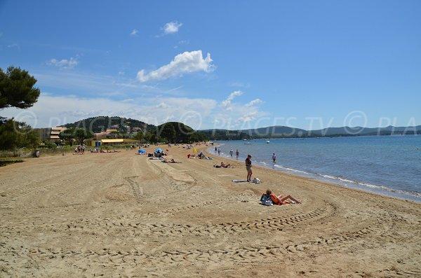 West part of Argentière beach in La Londe les Maures