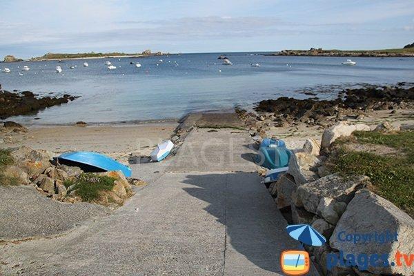 Photo de la petite plage d'Argenton à Landunvez