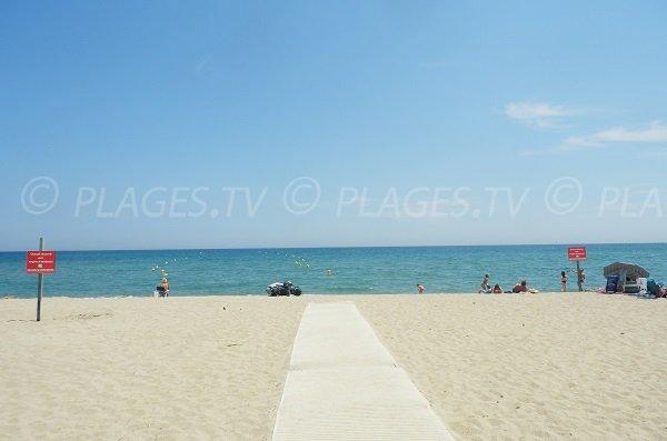 Disable access of Port Barcarès beach