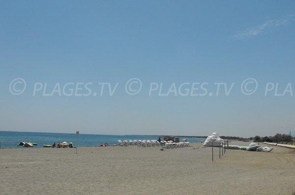 Palapa sulla spiaggia di Arinella Bastia