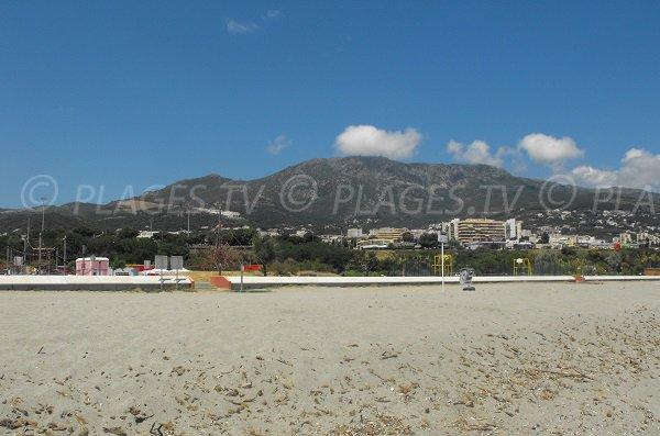 Environnement de la plage de l'Arinella en Corse