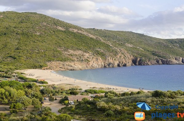 Arone beach from north - Corsica