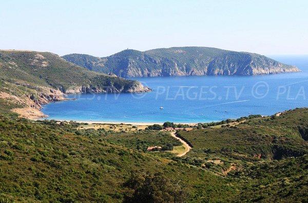 Photo de la plage d'Arone en Corse - Piana