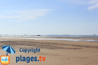 Asnelles beach in Normandy