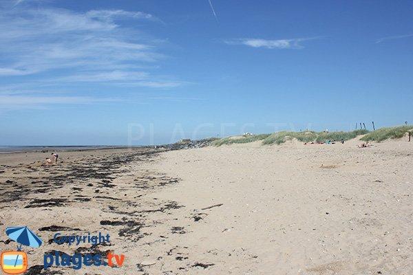 Photo de la plage d'Asnelles dans le Calvados