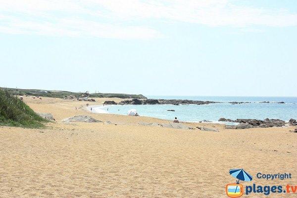 Vue sur l'anse de Caillé depuis la plage de l'Aubraie - Sables d'Olonne