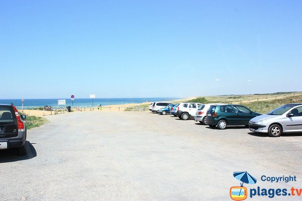 Parking of Aubraie beach - Les Sables d'Olonne