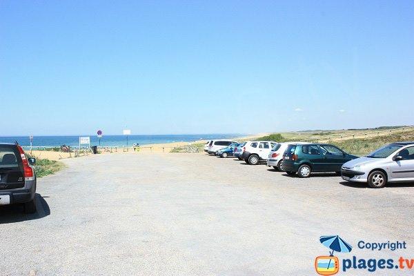 Parking de la plage de l'Aubraie - Les Sables d'Olonne