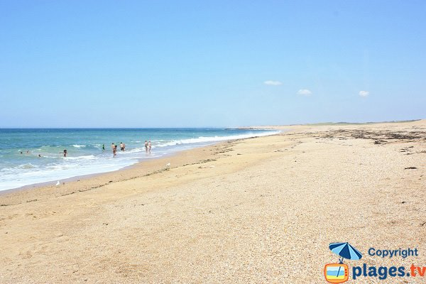 Photo of the Aubraie beach in Sables d'Olonne in France