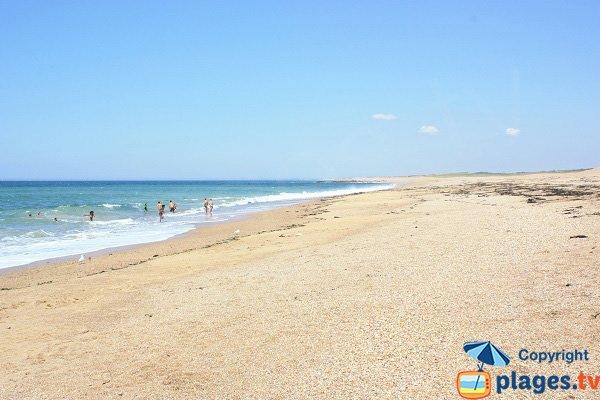 Photo de la plage de l'Aubraie aux Sables d'Olonne