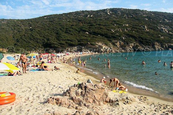 Sand beach in Sartène - Corsica