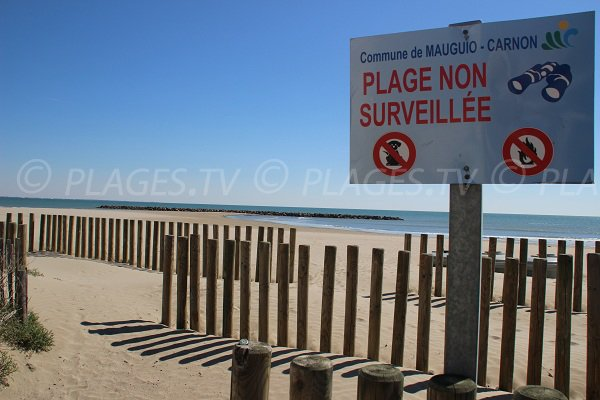 Spiaggia di sabbia a Carnon-Plage - Francia