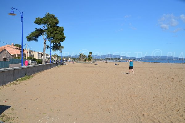 Environment of Ayguade beach in Hyères in France
