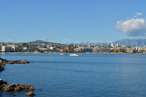 Antibes view from Bacon beach