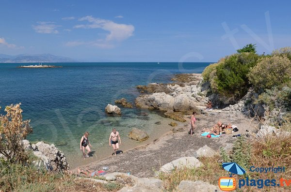 Photo of the beach near tip of Bacon in Cap d'Antibes