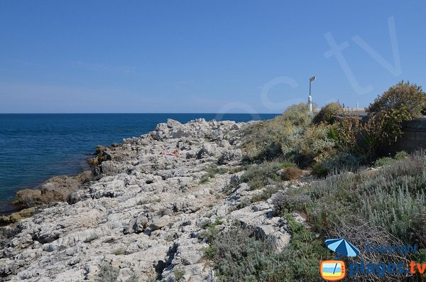Coast near Bacon tip - Cap d'Antibes