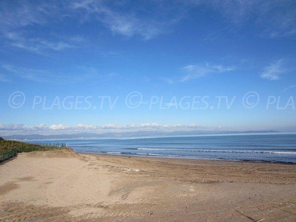 Plage de sable sur la presqu'île de Giens - La Badine