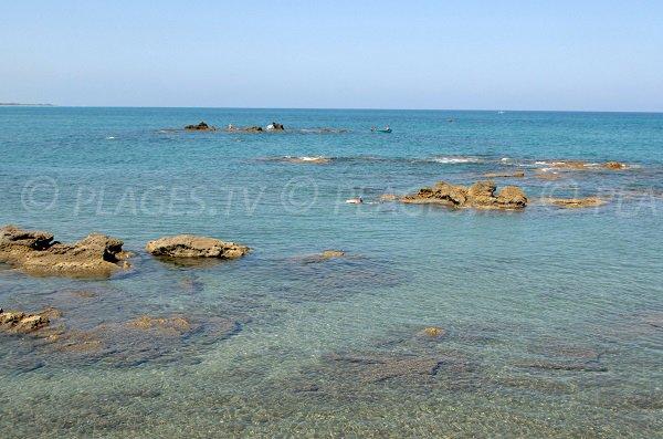 Plage sud de Bagheera à Linguizzetta en Corse