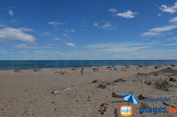 Photo de la plage naturiste du Cap d'Agde côté Marseillan