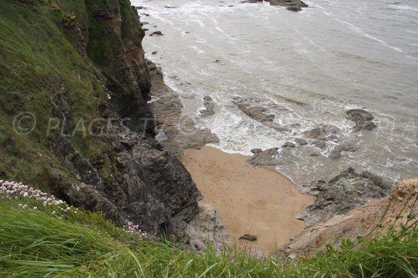 Cove in Bay of Dames in Assérac
