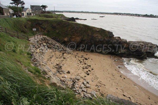 Baie des Dames beach in Assérac in France