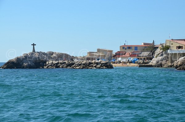 Baie des Singes from the sea - Marseille