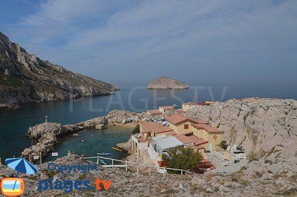 Photo du Cap Croisette et de la baie des Singes à Marseille