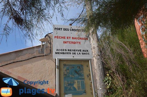 Port des Croisettes - Baignade interdite