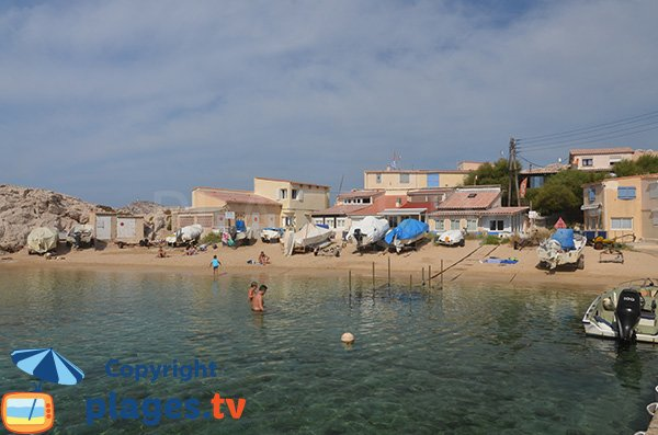 Baignade sur la plage de la Baie des Singes - Marseille
