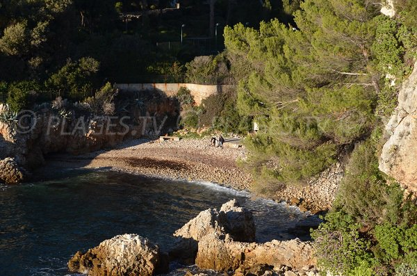 Bay in Milliardaires beach of Cap d'Antibes in winter