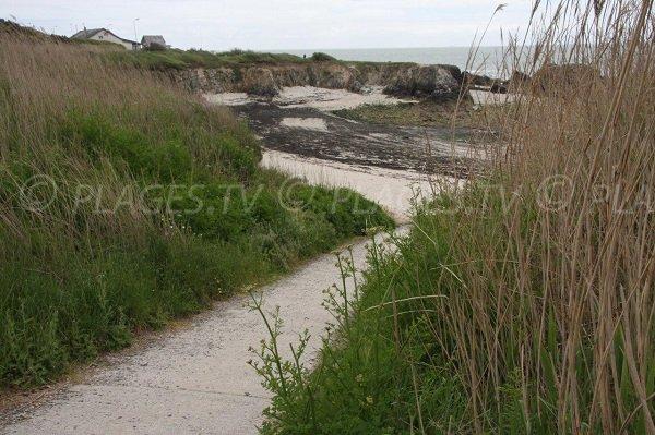 Accesso alla spiaggia di Scall Bay a Pouliguen
