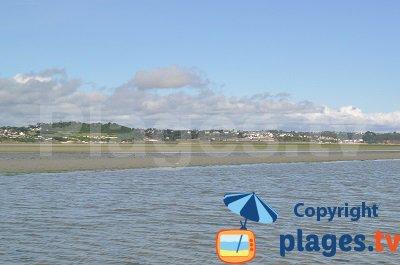 Plage à Hillion dans la baie de St Brieuc