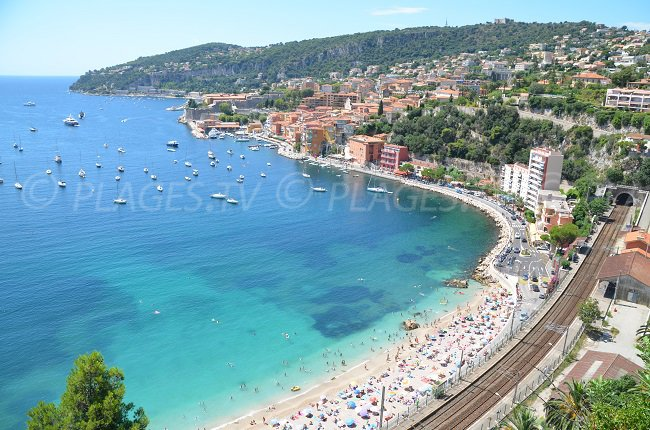 Bay of Villefranche and Marinière beach