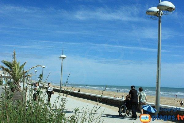 Waterfront in Saint Jean de Monts next to Baigneuse beach