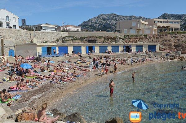 Photo de la plage des Bains des Dames à Marseille