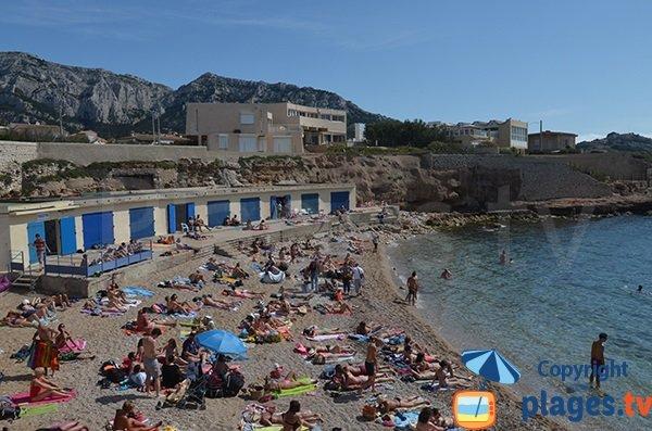 Bain des Dames beach in Marseille in France