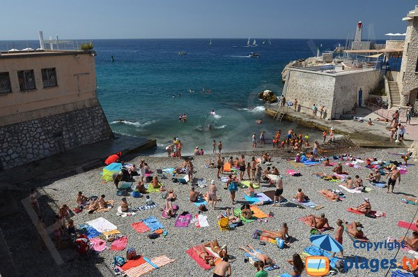 Bains Militaires beach in Nice in France