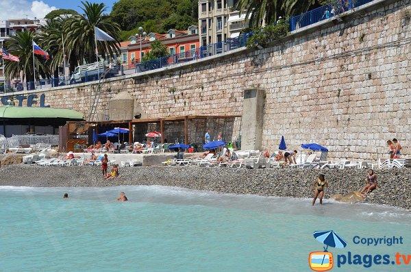 Police beach in Nice in France