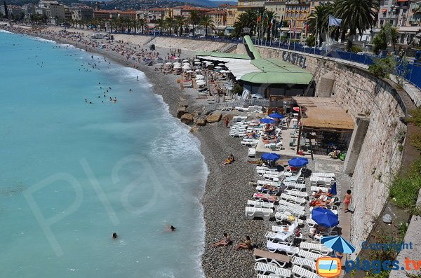 Photo of the bains de Police in Nice in summer