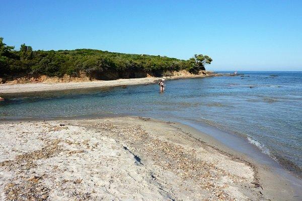 Partie nord de la plage de Balistra