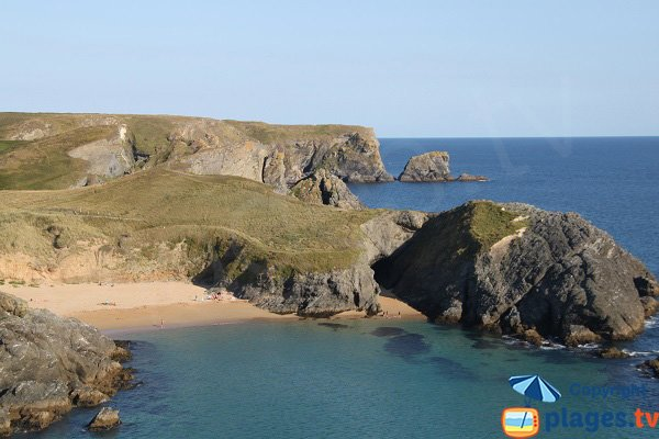 Baluden beach in Belle Ile en Mer in France