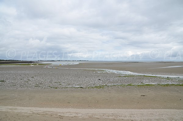 Plage de Banastère à marée basse - Sarzeau
